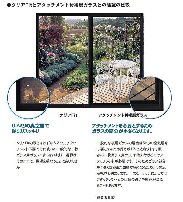 クリアFit(薄型断熱ガラス)